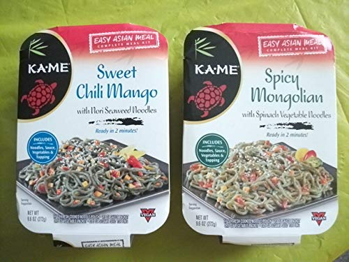 - KAME Easy Asian Complete Meal Kit (2 varieties) Spicy Mongolian & Sweet Chili Mango