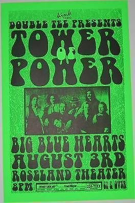 Tower Of Power Funk Soul Rare Original Portland Oregon Concert Poster from ConcertPosterArt