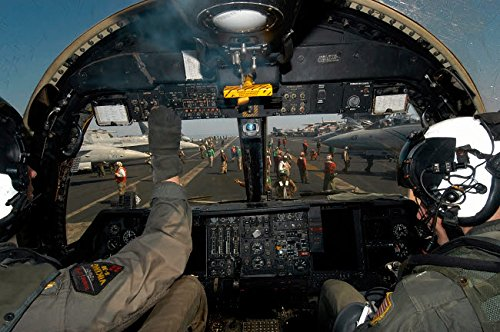 A view from the Tactical Coordinators position aboard a US Navy S-3B Viking aircraft Poster Print by Stocktrek Images (34 x - S-3b Viking Aircraft