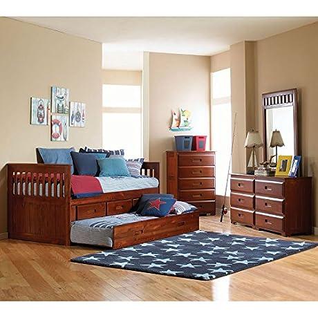 Cambridge Hillcrest Trundle Storage Bed In Merlot Children S Bed Frames Twin