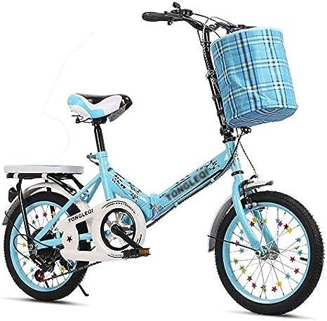 AJH Plegables Bicicletas Plegables Estudiante de Bicicleta ...