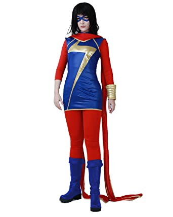 cosplayfm womens kamala khan cosplay costume superhero outfit halloween
