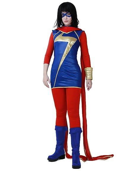 Amazon.com: cosplay. FM Mujer Kamala Khan Cosplay disfraz ...