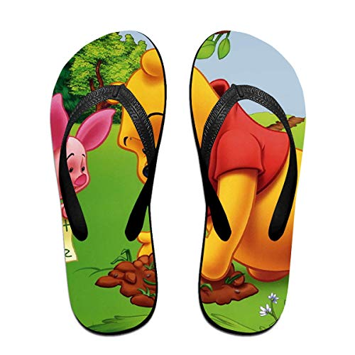sport outdoor 003 Unisex Flip Flops Glitter Sandals Winnie The Pooh Classical Comfortable Slipper for Women/Men