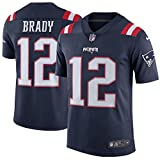 #6: Tom Brady New England Patriots Color Rush Stitched Limited Nike Navy Blue Jersey - Men's Small