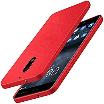 Nokia 6 Case, Vinve Matte Surface Soft Tpu Case Ultra Slim Skin Silicone Cover For Nokia 6 (TPU Red)
