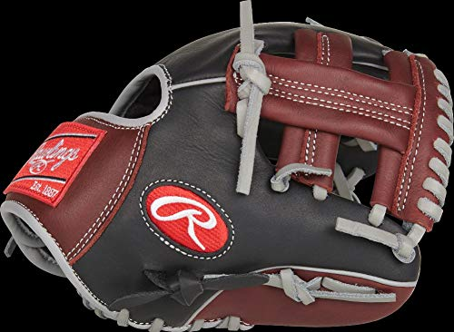 Rawlings R9 Baseball Training Glove, Pro I Web, 9.5 inch, Right Hand Throw (Best Baseball Drills For 10 Year Olds)