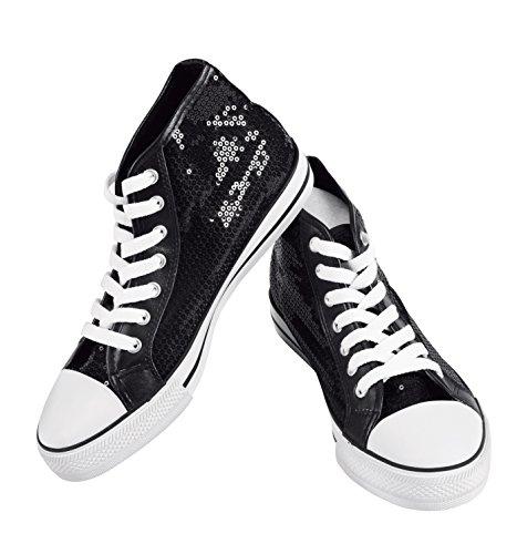 Girls Hi-Top Sequin Sneaker,CHUXHICBLK03.0,Black,03.0