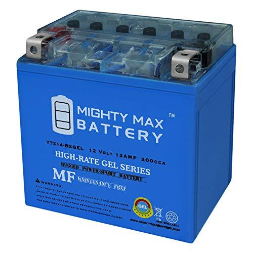 Mighty Max Battery YTX14-BS Gel 12V 12AH Battery for Honda ATV FourTrax TRX 300 350 450 Brand -