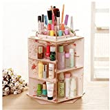 Gobuy Wood DIY Rotate Large Capacity Desk Clear Makeup Jewelry Storage, Organizer, Display Box