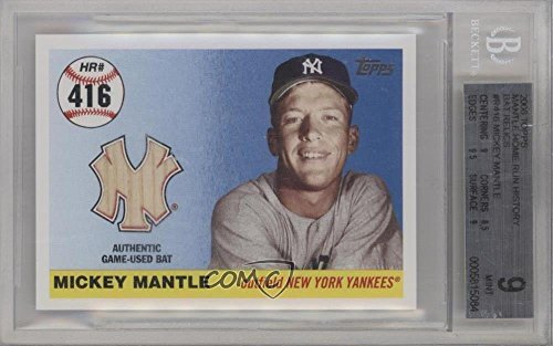 - Mickey Mantle Graded BGS 9 MINT #1/7 (Baseball Card) 2006 Topps - Multi-Year Issue Mickey Mantle Home Run History - Relic #MHRR416