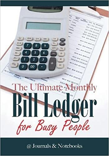 the ultimate monthly bill ledger for busy people journals notebooks