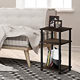 FURINNO Just 3-Tier End Table, 1-Pack, Columbia