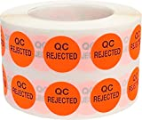 QC Rejected Labels 0.50 Inch 1,000 Total Adhesive