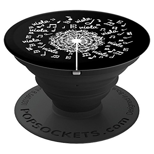 Viola Player Music Gift Violist Dandelion - PopSockets Grip and Stand for Phones and Tablets
