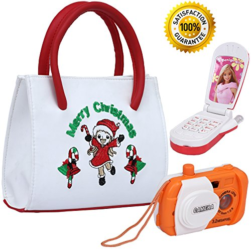Camera Free Gift Set - Kids Choice - My First Christmas Purse Set with Camera and a Flip Phone - Perfect Christmas Gift for your little Princess