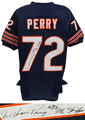 (William Perry Signed Autographed Navy Custom Throwback Jersey w/The Fridge)