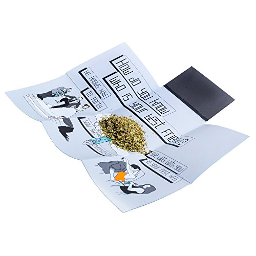 CASE ON IT Folding Rolling Tray. Small, Smell Proof, Easy to Carry...