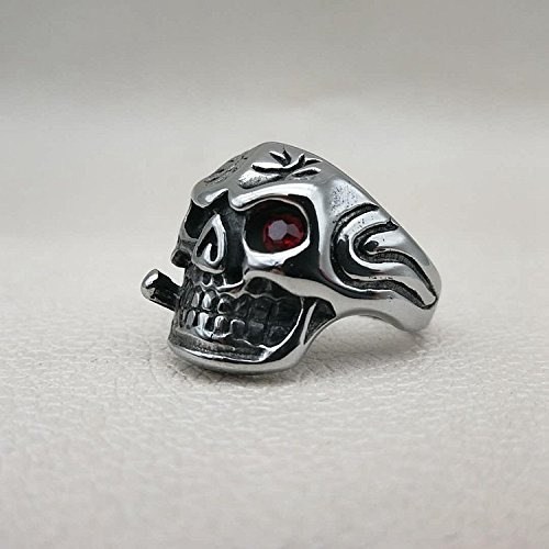 MCSAYS Stainless Steel Hip Hop Stainless Steel Personalized Skull Ring by MCSAYS