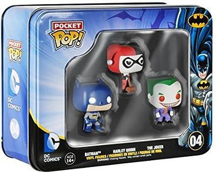 DC Comics Batman bolsillo Pop! Vinilo Figura 3 mini-paquete de estaño Batman de DC Comics bolsillo Pop! 3 mini-paquete de estaño de vinilo - Figura Batman Caja con 3 figuras mini Pop -