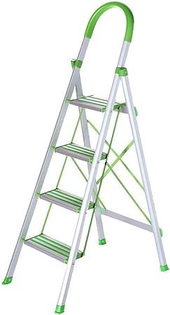 Longteng Aluminio Espiga De Escalera, Escaleras Multifunción,Escalera Plegable Cubierta, Pedal Ampliación, Ingeniería Oficina Escalera, Herradura Antideslizante del Cojín del Pie: Amazon.es: Hogar