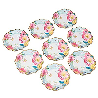 Papyrus Paper Dinner Plates, Watercolor Flowers, 8-Count: Toys & Games