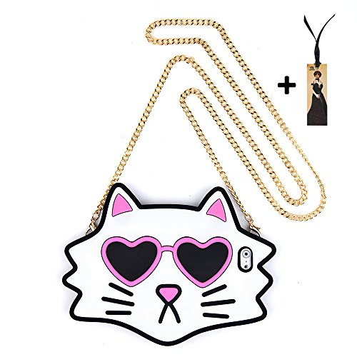 Sunglasses Cat Case With Crossbody Chain for Apple iPhone 6 / 6s Regular 4.7