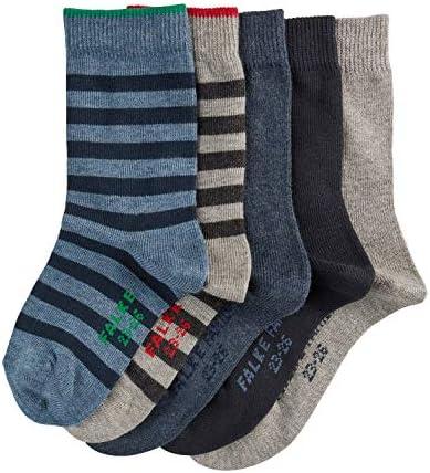 FALKE Kinder Socken Mixed 5-Pack - 94% Baumwolle, 5 Paar, Verf. Farbe: Grau/Marine, Größe 19-42 - Strümpfe im Multipack für jede Gelegenheit