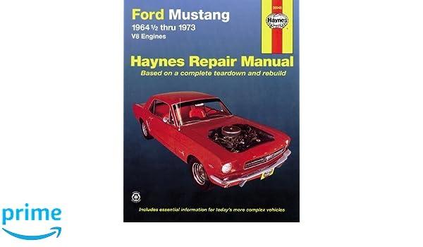 Ford Mustang, Mach 1, GT, Shelby, & Boss V-8 1964-1973 Haynes Repair Manual USA USA service & repair manuals: Amazon.es: Bruce Gilmour: Libros en idiomas ...