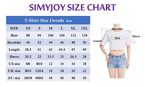 Shirt Top 7104 Love Crop Yourself T Donna Navel Maglietta Bianco SIMYJOY Top Cool Tear Ragazza BTS KPOP qa6XxFw