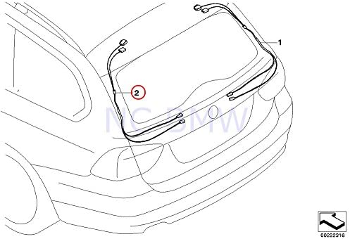 Amazon Com Bmw Genuine Hinge On Trunk Lid Rep Wiring Harness