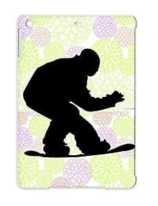 Black TPU Winter Sports Style Snowboarder Snowboarding Art Design Sport Snowboarding Cool Dirtproof For Ipad Air Snowboarder Case