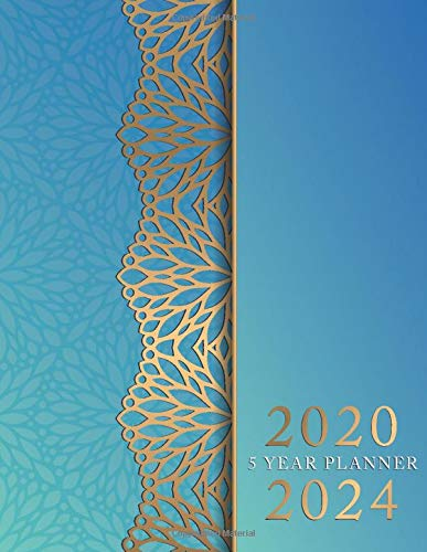5 Year Planner 2020-2024: Blue Mandala Cover | 5 Year ...