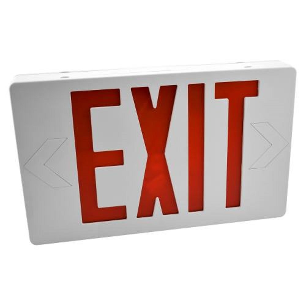 Easy Mount LED Exit Sign Emergency Light Lighting Emergency LED Light/Battery Back-up/Double Face/UL Certified (Red)