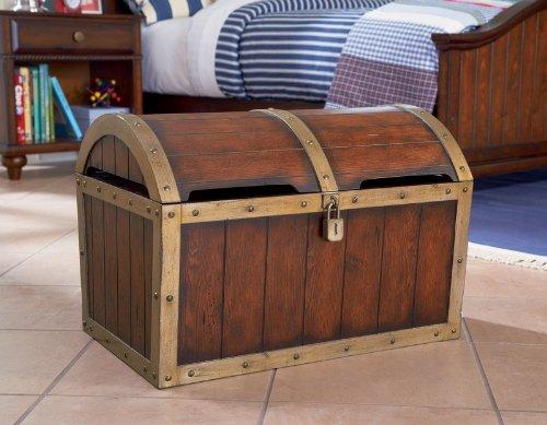 Amazon Com Kids Toy Chest With Treasure Box Design In Antique Honey