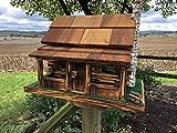 Old Log Cabin Feeder - Wooden Rustic Amish Made Bird Feeder
