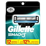 Gillette Mach3 Men's Razor Blade Refills, 12 Count (Packaging May Vary), Mens Razors/Blades