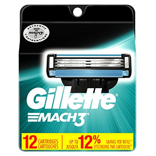 Gillette Mach3 Men's Razor Blade Refills, 12 Count (Packaging May Vary), Mens Razors / - Male Facial Features Best