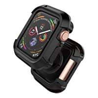 UMTELE Compatible with Apple Watch Series 4/3/2/1 Case Rugged Shock Proof Bumper Cover Scratch Resistant Protective Case for Apple Watch Nike+, Series 4,Series 3, Series 2, Series 1,38mm/42mm/40mm/44mm