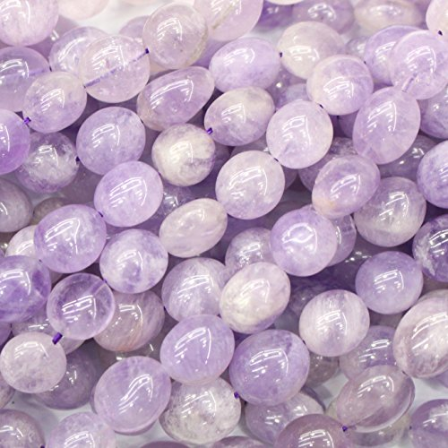Natural Gemstone Beads Nuggets 8-10mm for Jewelry Making Loose Beads (Lavender Amethyst)