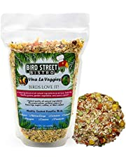 Bird Street Bistro Parrot Food Viva La Veggies | Cooks in 15 min. | All Natural & Organic Grains and Legumes, Healthy, Fruits, and Vegetables, Spices - No Fillers, Sugars, Sulfites (Large 24 oz.)