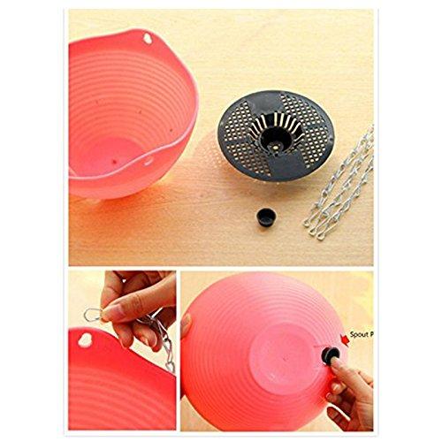 Xigeapg 6 Stueck haengende gesaetkoerbe Indoor//Outdoor haengenden Toepfe Pflanze Mischfarbe die Haken Wohnkultur Haken