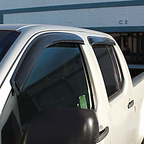 VioletLisa 4pcs Front + Rear Smoke Sun/Rain Guard Vent Shade Window Visors for 92-00 Chevy/GMC C/K 1500/2500/3500 Crew Cab Pickup 92-99 Suburban 95-99 Tahoe/Yukon 99-00 Cadillac Escalade