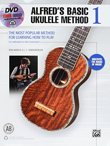 - Alfred's Basic Ukulele Method 1: The Most Popular Method for Learning How to Play, Book, DVD & Online Audio & Video (Alfred's Basic Ukulele Library)