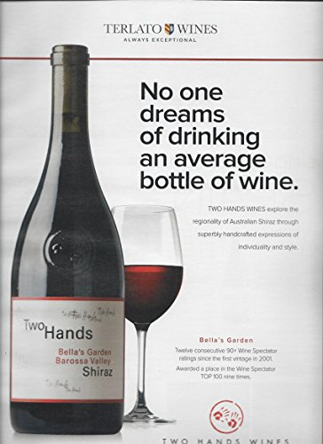 **PRINT AD** For Terlato Two Hands Shiraz Rating Scene **PRINT (Two Hands Shiraz)
