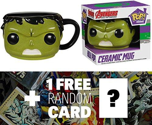 Hulk: 12 oz. Funko POP! Home x Avengers - Age of Ultron Mug + 1 FREE Official Marvel Trading Card Bundle (57466)