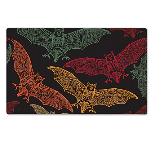 Luxlady Natural Rubber Large TableMat ID: 44881716 Vector seamless halloween pattern with bat Modern stylish texture Repeating abstract (Halloween Bat Crochet Patterns)