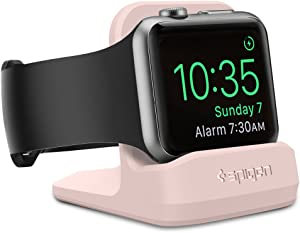 Spigen S350 Designed for Apple Watch Stand with Night Stand Mode for Series 5 / Series 4 / Series 3/2 / 1 / 44mm / 42mm / 40mm / 38mm, Patent Pending - Pink Sand