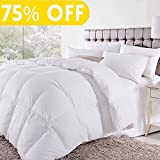 Soft Goose Down Alternative Comforter Luxury Hotel Collection Reversible Duvet Insert with Corner Tab,Warm Fluffy for All Season,White,King,90 by 102 Inches