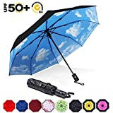 ABCCANOPY Umbrella Compact Rain&Wind Teflon Repellent Umbrellas Sun Protection with Black Glue Anti